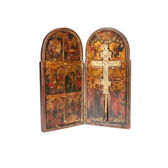 A RUSSIAN DIPTYCH ICON Image