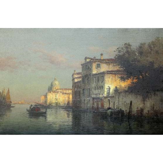 ANTOINE BOUVARD (1870-1956), TRANQUIL SHADED WATERS, VENICE Image