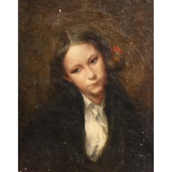 LAWRENCE BIDDLE (1888-1968), PORTRAIT OF A GIRL Image