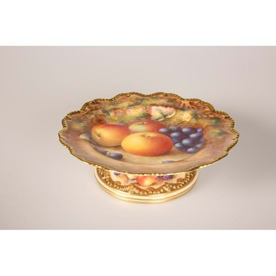 A ROYAL WORCESTER FRUIT-PAINTED COMPORT Image