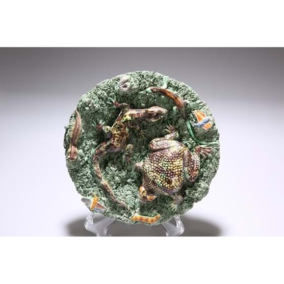 A 19TH CENTURY PALISSY STYLE DISH Image