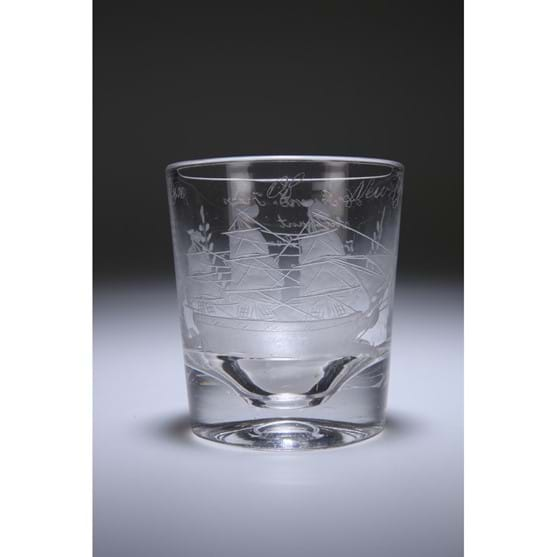 A MID-19th CENTURY GLASS TUMBLER Image