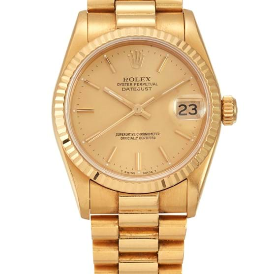 AN 18 CARAT GOLD ROLEX OYSTER PERPETUAL DATEJUST CENTRE SECONDS WRISTWATCH Image